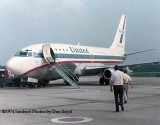 1974 - Boarding a United B737-222 at Newport News