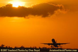 2007 - American Airlines B757-223 takeoff at sunset airline aviation stock photo #3075