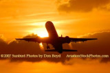 2007 - American Airlines B757-223 takeoff at sunset airline aviation stock photo #3076