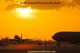 2007 - Northwest Airlines Airbus A-319 takeoff at sunset airline aviation stock photo #3079