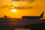 2007 - Northwest Airlines Airbus A-319 takeoff at sunset airline aviation stock photo #3080