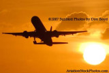 2007 - American Airlines B757-223 takeoff at sunset airline aviation stock photo #3085