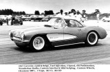 1959/1960:  George W. Young racing his 1957 Corvette at Amelia Earhart Field, Miami, Florida