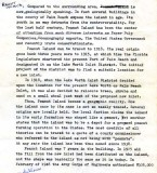 1972 - Draft of report by BM2 Ron Ritchie on history and future of Peanut Island, Page 1