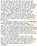 1972 - Draft of report by BM2 Ron Ritchie on history and future of Peanut Island, Page 2