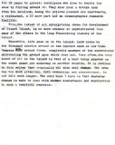 1972 - Draft of report by BM2 Ron Ritchie on history and future of Peanut Island, Page 5