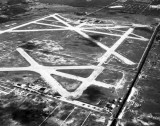 1947 - Miami Municipal Airport (later Amelia Earhart Field) in foreground, Masters Field in background