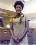 1973 - pretty National Airlines flight attendant