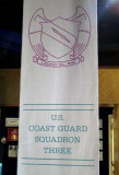2007 - U. S. Coast Guard Squadron Three banner at the Vietnam Veterans National Memorial, stock photo #1712