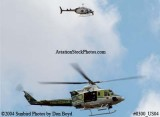2004 - Miami-Dade Police and Fire helicopters looking for a drowning victim stock photo #0300