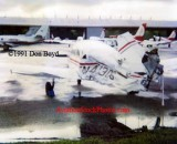 1991 - Piper PA28-151 N41306 destroyed by impact from Metro-Dade Aviation Department ramp car