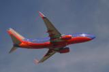 Southwest 737-700 taking off, FLL, Dec. 2006