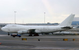 Cargo Airlines 747 taxing to its stand at JFK