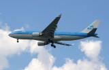 KLM A-330 over JFK