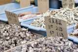 Dried Mushrooms and fish