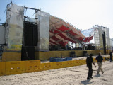 Stage roof collapse