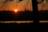 Sunset over Fort Loramie
