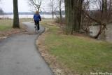 Walking path along Lake Loramie