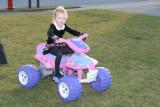 Ellie's new Barbie 4-wheeler