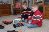 The twins with their new racetrack
