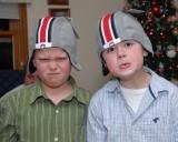 Jack &  Nolan model their helmet hats