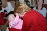 Macey loves to pull grandma's hair.