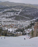 Heading down to the River Run area of Keystone Ski Resort