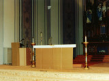 Mock up of Altar & Ambo to check for size