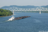 Coal Barge on the Ohio River 1