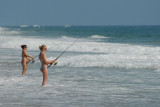 Fishing on the Outer Banks, North Carolina