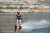 Brenda skiing