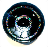 Large Black Glass Dish