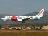 B.737-800 finals for PMI 24L.
