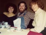 Dwight Miller, Vicky Roskilly , and the art Director of Vidal Sassoons Europe,  Herta Keller