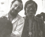 Santilli teaching Malasias top hairstylist Roland Chow. He came quite often. Loved Sassoon work.
