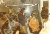 Clare working a full house at Sassoons Queen Street Academy 1975