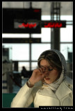 Iranian Lady at Airport 1