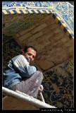 Workman at Iman Mosque