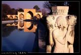 Stone Lion Decoration, 40 Pillars Palace