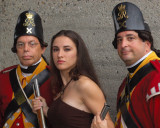 Joanna & members of His Majesty's 10th Regiment of Foot