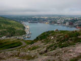 Downtown St. Johns as seen from Signal Hill