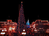 Disneys Main Street at Night