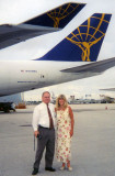 1998 - Don and Brenda with an Atlas Air B747 freighter at Miami International Airport