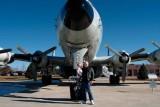 December 2006 - Kyler and Grandpa Boyd with Lockheed EC-121T Warning Star #AF52-3425