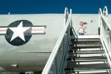 December 2006 - Kyler at rear door of Lockheed EC-121T Warning Star #AF52-3425