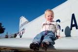 December 2006 - Kyler on right wing of McDonnell-Douglas F-4C Phantom #AF64-0799 painted as AF63-7589
