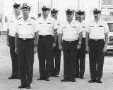 1986/7 - AECM Art Donley, LT Garrett Tirpak, ADCS Bill Cavanaugh, ATCM Bob Pear, YNC Don Boyd, ATCS Jim Walters and ?