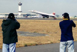 Mike McLaughlin and Carlos Borda shooting a British Airways Concorde takeoff