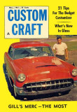 1961 - Gil Acosta and his 1953 Mercury on the cover of Custom Craft magazine in May 1961