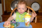 April 2007 - Kyler loves great-grandma Esther's pancakes